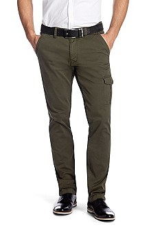 Regular fit cargo trousers with cotton 'Slown-D'