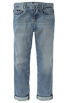 Regular-Fit Jeans ´Kansas` aus Used-Denim