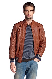 Leather jacket made from fine lamb leather 'Jank