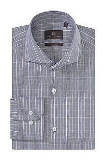 Business shirt with a woven check design 'Christ
