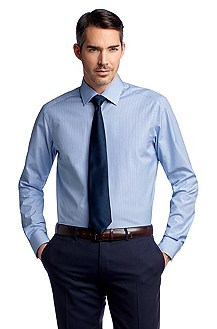 Business shirt with woven stripes ´Stirling`