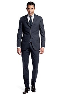 Suit in pure new wool 'Ratcher/Crow'