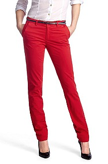 Casual trousers in a cotton/elastane blend 'Sofy