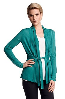 Wrap-over cardigan in silk/viscose 'F4617'
