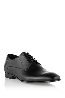 Lace-up shoe in smooth calfskin leather 'Metion'