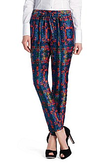 Printed silk trousers 'Hesani'