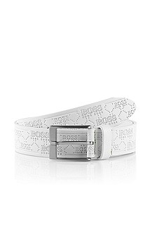 Belt with all-over logo embossing 'Tomperial'