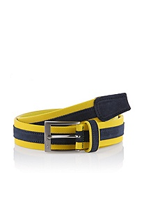 Belt with a rectangular pin buckle 'Tiemo-N'
