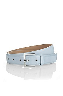 Leather belt with a pin buckle 'Gunno'