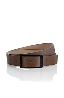 Leather belt with a pin buckle 'Galleno'