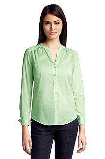 Casual blouse with a small band collar 'Rosalia'
