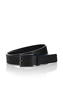Leather belt with a pin buckle 'Genaro'
