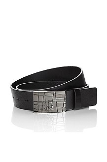 Leather belt with a pin buckle 'Galfredo'