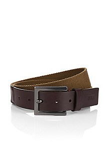 Leather mix belt with a pin buckle 'Gorino'