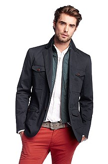 Tailored jacket with a zip placket 'Beak-W'