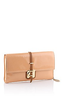 Calfskin leather clutch bag 'Caledony-V'