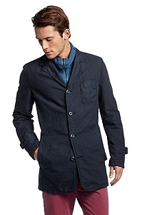 Coat in linen/cotton/resin 'Oment-D'