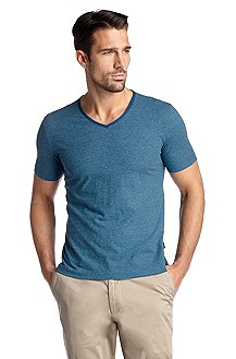 Slim fit T-shirt with a V-neckline 'Eraldo 53'