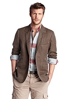 Linen/cotton jacket 'Biegel-W'