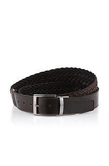 Reversible belt with textile weave 'Oderico'