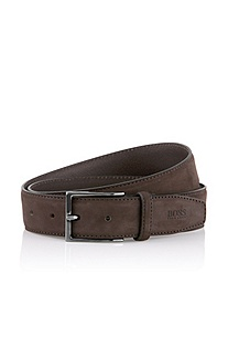 Belt in nubuck cowhide leather 'Colvino'