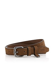 Belt with a rounded metal buckle 'Crisbo'
