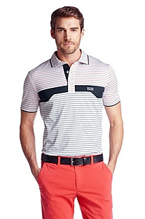 Cotton-jersey polo shirt ´Patto`