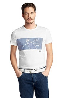 T-shirt with a round neckline 'Tee MK'