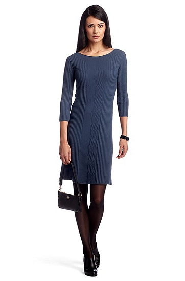 Strickkleid ´F4624` aus Viskose-Mix, Blau