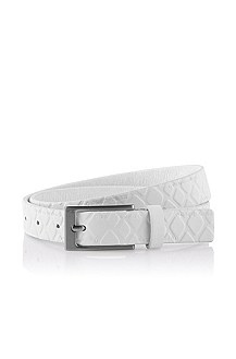 Cowhide leather belt with embossing 'Grayla'