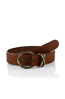 Belt in fine calfskin leather 'Eleese'
