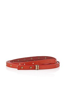 Leather belt with stud details 'Emelyn'