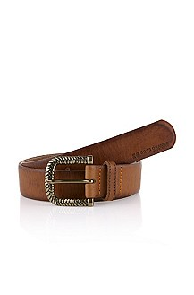 Belt in soft calfskin leather 'Enorah'