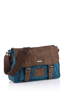 Messenger bag with nubuck elements 'Finiss'