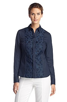 Business blouse with a Kent collar 'Banuvi'