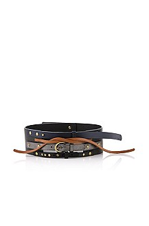 Belt in genuine calfskin leather 'Estel'