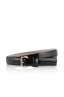 Belt in fine calfskin leather 'Coly-V'