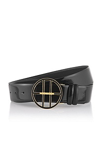 Reversible leather belt 'Alea-V'