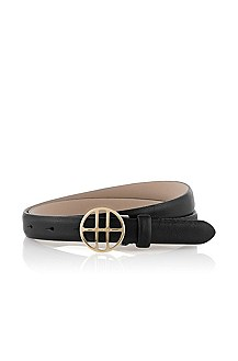 Belt with a logo plaque buckle 'Aschiri-S'