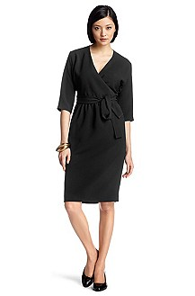Wrap dress with 3/4 sleeves 'Dayena'