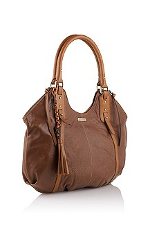 Lamb leather handbag 'Vegah'
