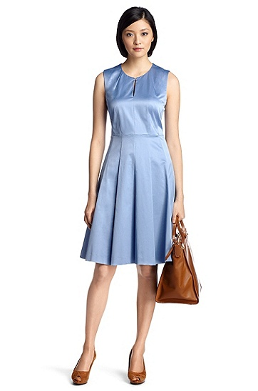 Feminine, A-line dress 'Duminesa', Open Blue