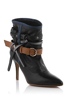 Ankle boot in mixed, milled leather 'Mirya'