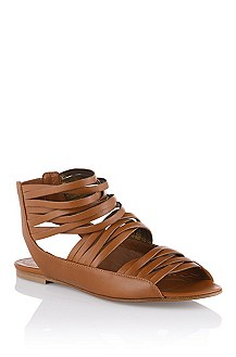 Sandal in genuine calfskin leather 'Faryn'