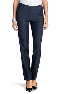 Suit trousers with pressed pleats 'Talan'