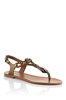 Gladiator sandal in calfskin leather 'Tristyn-L'