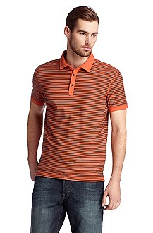 Horizontal stripe polo shirt 'Pusher'