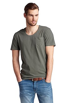 T-shirt with patch breast pocket 'Taxes'
