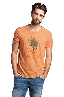T-Shirt ´Therron` mit Frontprint