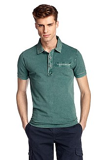 Piqué polo shirt with smooth collar 'Pushkyn 1'